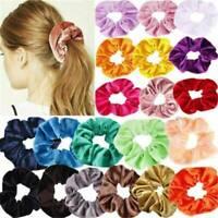 12PCS/Set Velvet Hair Scrunchies Hair Ties Elastic Hair Bands Women Girls' Ropes