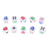 10pcs Six-sided Poker Dice for Casion Poker Card Liar's Dice Game Accessory NTXP