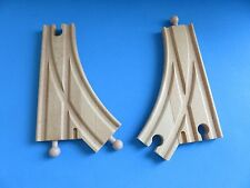 """Melissa & Doug """"2-Switched Curves"""" Wooden Railway; Brio Thomas Compatible/New"""