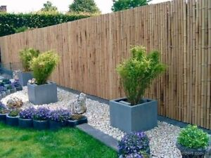 4M Natural Bamboo Slat Garden Screening Fencing Fence Privacy Screen Roll Panel