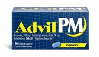 Advil PM Caplets 80ct -Expiration Date 01-2021-