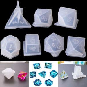 Crystal Silicone Resin Dice Fillet Mold Crafts Digital Gamer DIY Mold Crafting