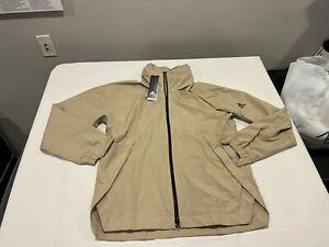 NWT $150.00 Adidas Mens Urban Rain Ready Jacket Savannah Tan Size SMALL