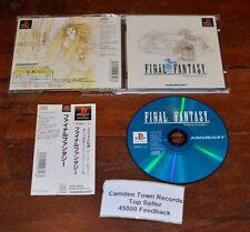 Final Fantasy Ps1 NTSC Jap 1a Stampa Eccellente Completo w/ Spine Card