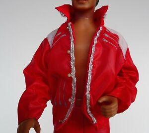 Vintage 1984 Original Michael Jackson Doll Beat It Red Jacket Clothing