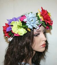 Unique Wedding Headband, Multi Flowers Boho Style Headband, Ukrainian Headband