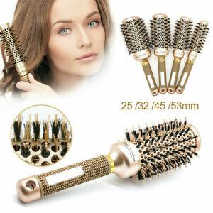 Professional Thermal Ceramic And Ionic Round Barrel Hair Brush Boar Bristle GE