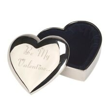 PERSONALISED ENGRAVED HEART TRINKET BOX VALENTINES DAY GIFT PRESENT NEW!