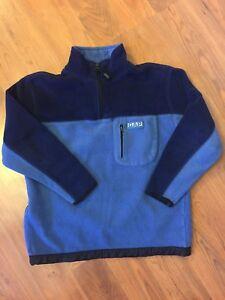 Gap Boy's Performance Pullover Long Sleeve Fleece Shirt 1/4 Zipper Blue Sz M