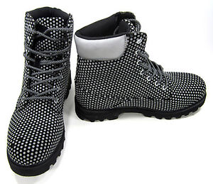 Lugz Boots Empire Hi DX Spotted Black/Gray Shoes Size 10.5
