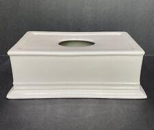 Restoration Hardware Rh Ceramic Off White Cream Tissue Box Cover