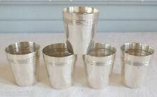 gobelets liqueur métal argenté rubans croisés