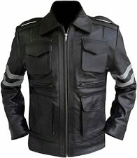 Gamer Resident Evil Classic Leon Kennedy Mens Leather Jacket