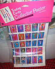 NEW+FACTORY SEALED~BARBIE TRADING CARDS POSTER~All 300 Shown~5529~FIRST EDITION!