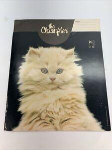 Vintage Mead The Classifiler Cat Kitten School Supplies Folder 1979 USA