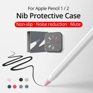 8Pcs Nib Cover Protect Case For Apple Pencil 1/2 Non-Slip Replacement Tip Skin