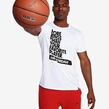"SZ 2XL 🆕 Nike Men's Air Jordan Retro One ""MORE RINGS"" T-Shirts White 864939-100"
