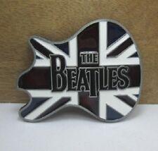 Ceinturon The Beatles-Drapeau Anglais-Guitar-Boucle Ceinture-Vintage