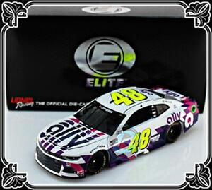 "2020 JIMMIE JOHNSON #48 ALLY FINANCIAL WHITE ELITE CAMARO 1:24  ""228 MADE"""