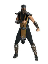 Adult Licensed Mortal Kombat Scorpion Fancy Dress Costume Mens Gents Male BN