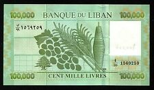 Replacement  100000 Livres 2012 UNC Rare Lebanon BankNotes