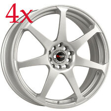 Drag Wheels DR-33 17x7.5 4x100 4x114 Silver Full Rims Colt for Kia Optima Rx7 Fc
