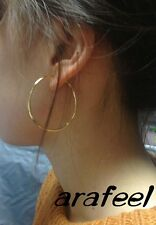 Circle Ring Piercing Hoop Fake Spring Ear Punk Gothic Clip On pierced Arafeel