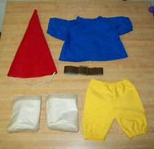 "GNOME OUTFIT W/ HAT TUNIC PANTS BELT BOOTS FOR 15-16"" CPK Cabbage Patch Kids"