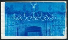 c. 1905 CHRISTMAS DECORATIONS Vintage CYANOTYPE PHOTO