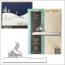 Snowy Cabin metal die - Memory Box cutting dies 99785 Christmas Winter snow