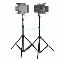 Godox 2X 500 LED Studio Video Continuous Light Kit For Camera DV Camcorder 3300K