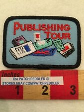 FREE SHIPPING JOURNALISM PATCH ~ PUBLISHING TOUR ~ NEWSPAPER MAGAZINE MEDIA 5V2