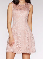 £35! BRAND NEW QUIZ Pink Lace Glitter Sparkly Party Evening Prom Skater Dress