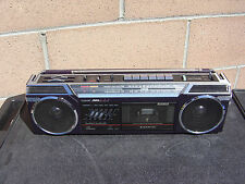 Sanyo M7775 Stereo Radio Cassette Recorder Vintage Boombox Made In Japan NICE