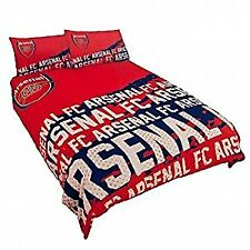 Arsenal FC Official Football Gift Double Duvet Set by Official Arsenal FC Gifts