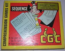 1979 Collectable Grade 3-4 Sequence Comprehension Game Kit Box Home School Vg