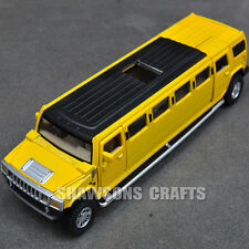 1:32 DIECAST MODEL TOYS PULL BACK CAR HUMMER H2 STRETCH LIMOUSINE W/ SOUND LIGHT