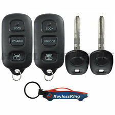 2 Replacement Remote Key Fob Set for 1999 2000 2001 2002 Toyota 4Runner