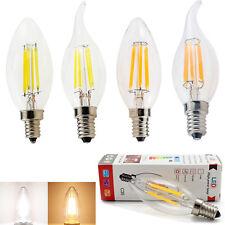 Regulable Edison Led Vela Filamento Luz E14 2W 4W 6W Bombilla Frío Cálido Blanco
