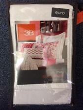 NEW Studio 3B Chely European Pillow Sham, 100% Cotton, Raspberry Pink/White