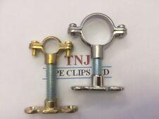 Brass or Chrome Munsen Ring, Baseplate & Steel - Copper Pipe Clip Hanger support