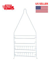 Wired Shower Caddy with White Plastic Coating Rustproof Easy to Wash