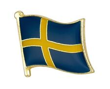 SWEDEN ( Sverige ) - Flag Lapel / Hat Pin Badge  High Quality Gloss Enamel