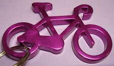 "NEW Aluminium 2"" Long PURPLE BIKE Bicycle Key chain bottle opener with KEY RING"