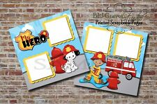 Firefighter, Fireman, Dalmatian 2 PRINTED Premade Scrapbook Pages BLJgraves 28