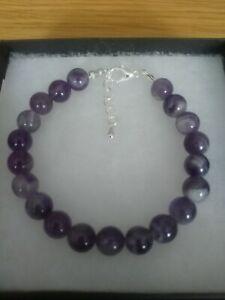 New Sage Amethyst Gemstone Bracelet