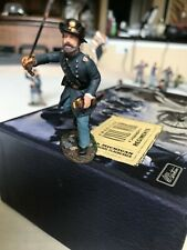 W. BRITAIN ACW # 31096 UNION OFFICER IRON BRIGADE CHARGING #1