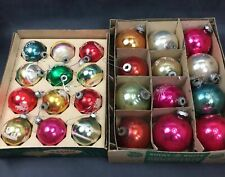 Vintage Shiny Brite Christmas Ornaments 2 Boxes 24 Ornaments