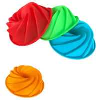Spiral shape silicone Cake Pan Bread Bakeware Mold baking tODJB