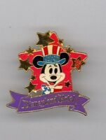 1993 Disney Disneyland Hotel Uncle Sam Mickey Mouse 4th of July Cast Working Pin
